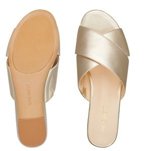 Really cute and comfortable Nine West wedge slides
